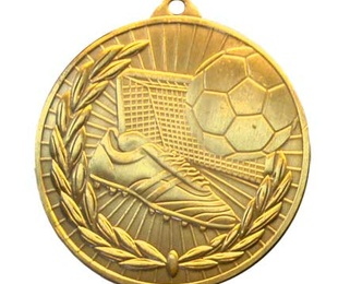Medalla de fútbol, 50mm oro brillo