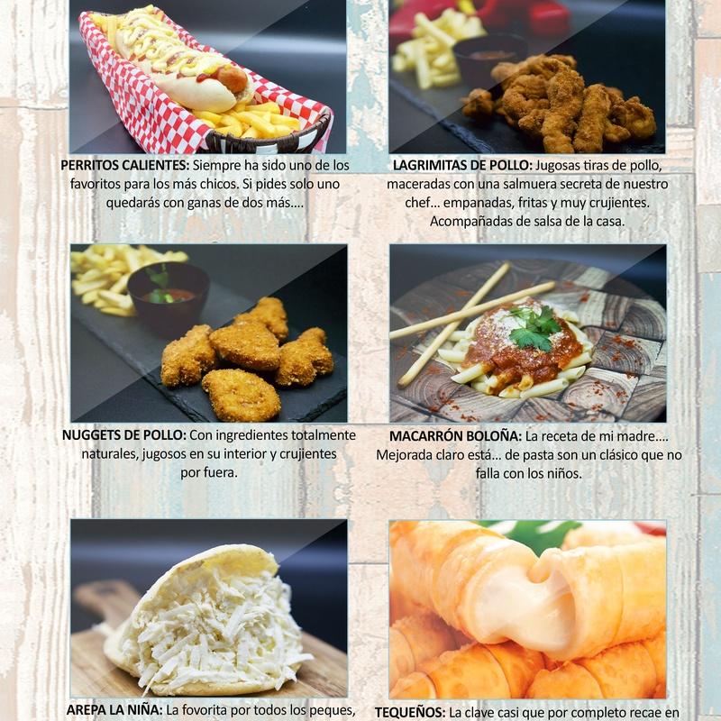Menú infantil: Carta de Restaurante Pal-buche