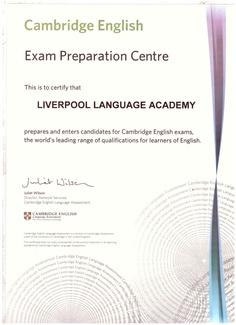 LIVERPOOL LANGUAGE ACADEMY     Exam Preparation Centre