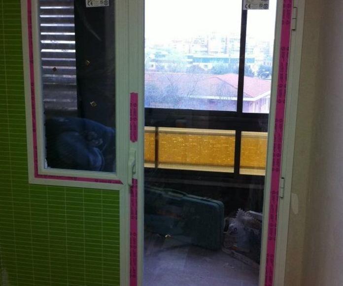 Colocación de ventanas y puertas de pvc y aluminio