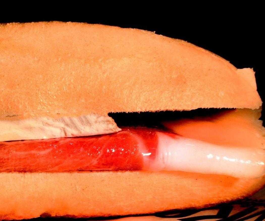 El clásico bocadillo de jamón a la catalana
