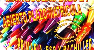 ABIERTO PLAZO MATRÍCULAS 2020-21