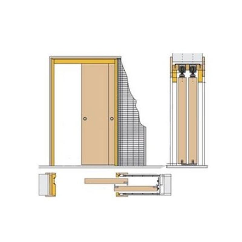 Estructura metálica para puerta corredera (casoneto)