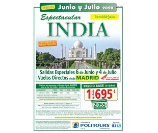 Super oferta Junio y Julio 2020 - Espectacular India