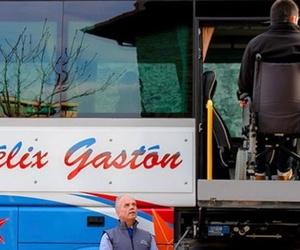 Transporte adaptado de personas con movilidad reducida.
