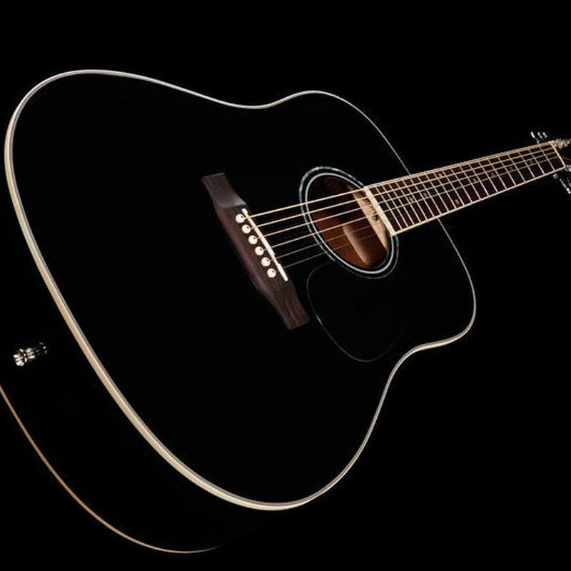Guitarra acústica Harley Benton color negro