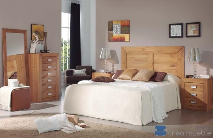 Dormitorio Rústico Serie BAHIA: Productos de Crea Mueble