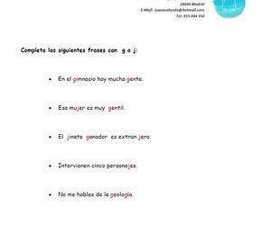 Ejercicio de Lengua - G o J?