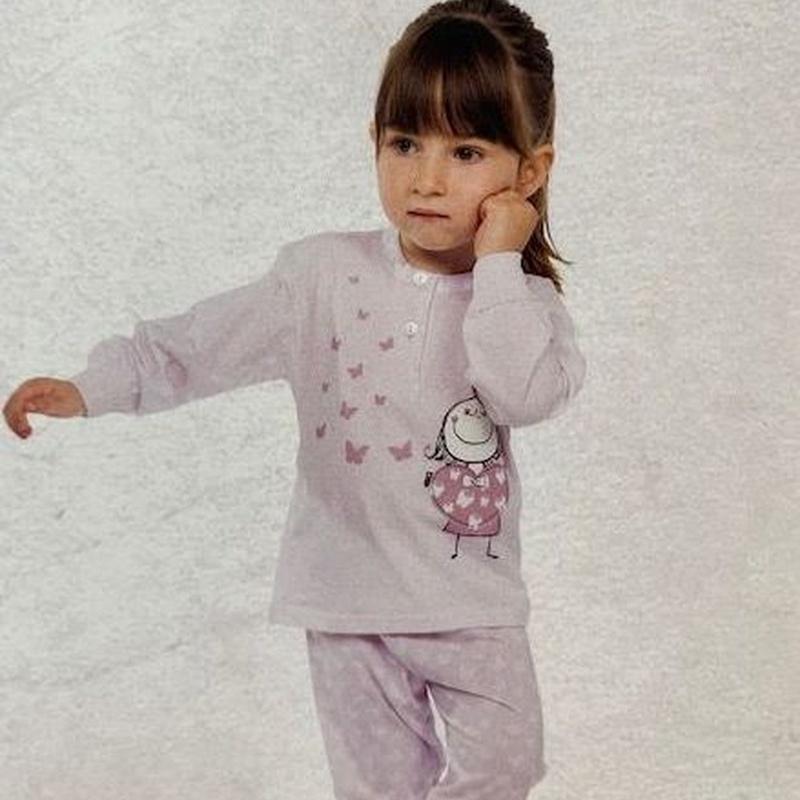 Pijama niña pantalón largo