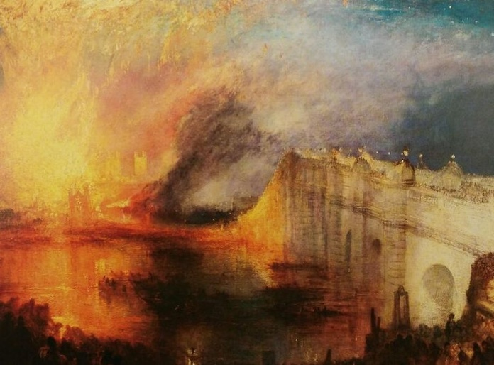 Turner. El Incendio del Parlamento (HOR): CATALOGO de Quadrocomio La Casa de los Cuadros desde 1968