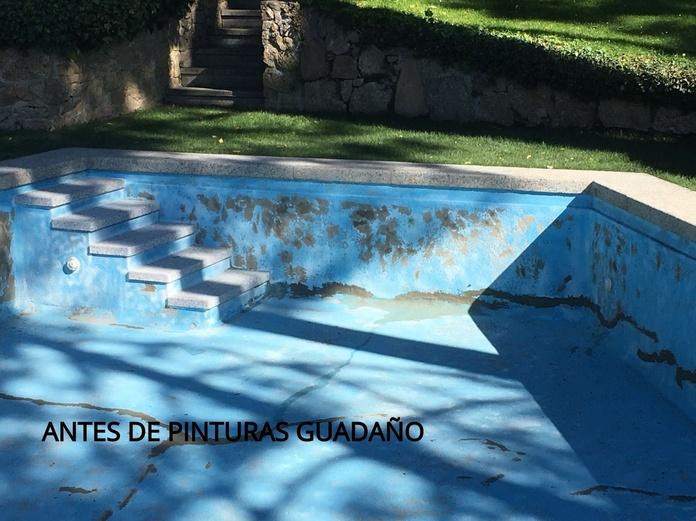 Pintado de piscinas San Lorenzo del Escorial