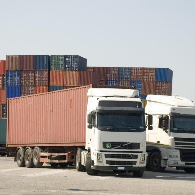 Los camiones de transporte de mercancías