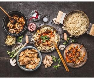 Las diferencias entre la comida china y la japonesa