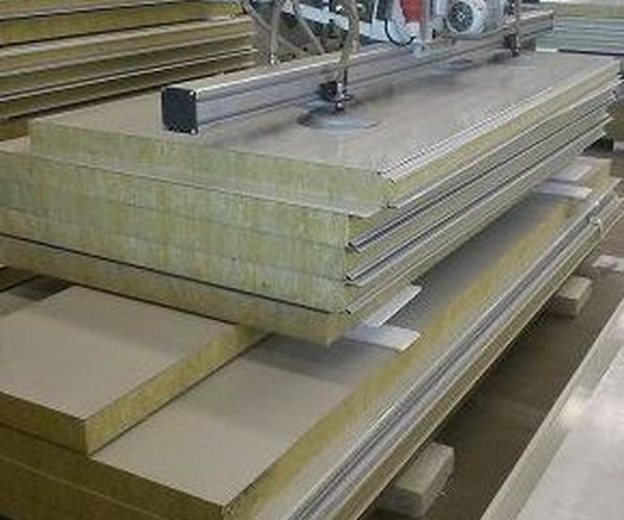 Paneles cortafuegos lana de roca