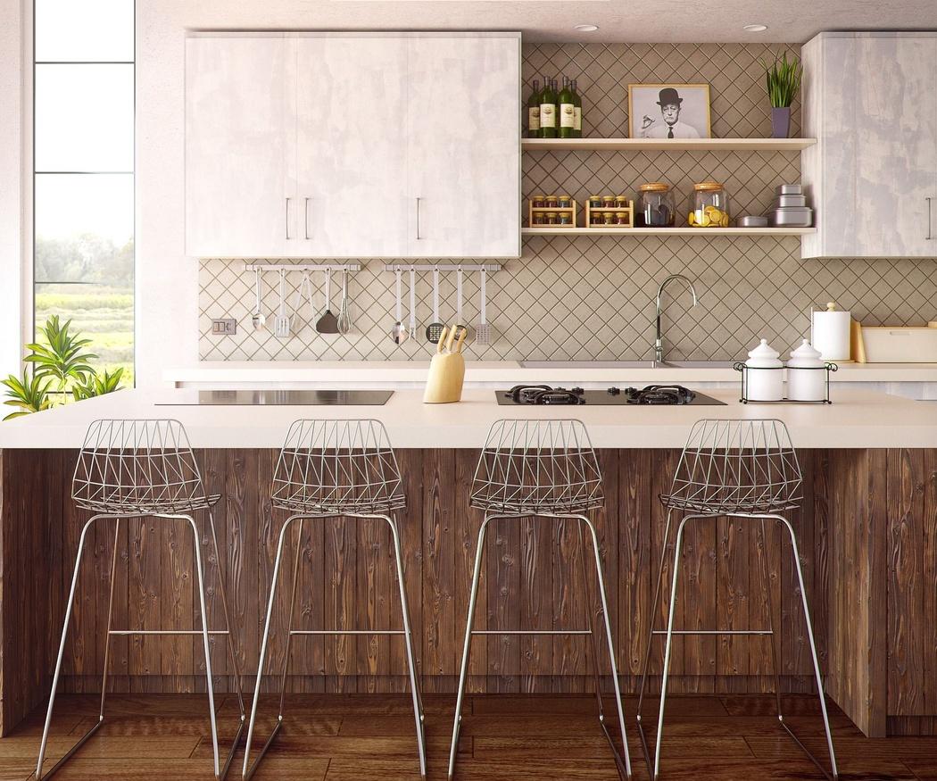Una cocina funcional y minimalista