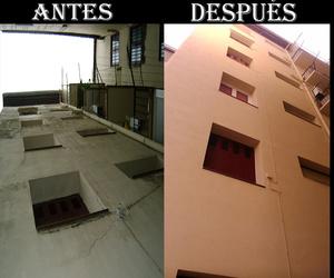 FACHADA - ANTES Y DEPUÉS
