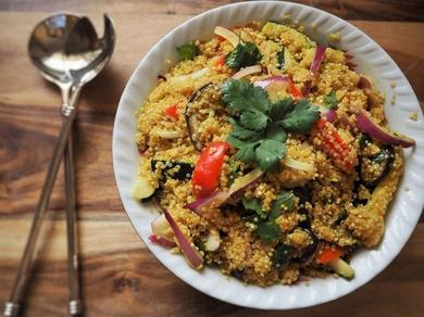 Recetas saludables III :Quinoa con verduras y setas