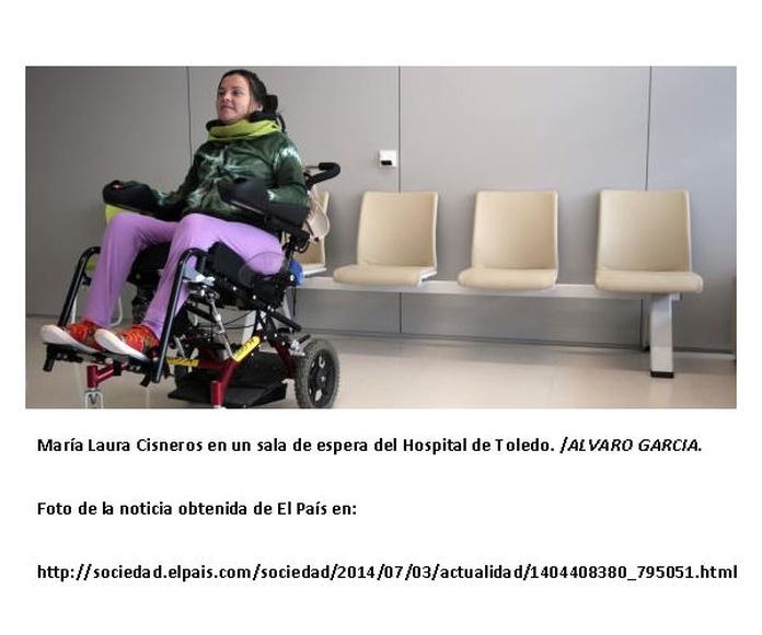 María Laura Cisneros en una sala del Hospital de Toledo. /ALVARO GARCIA