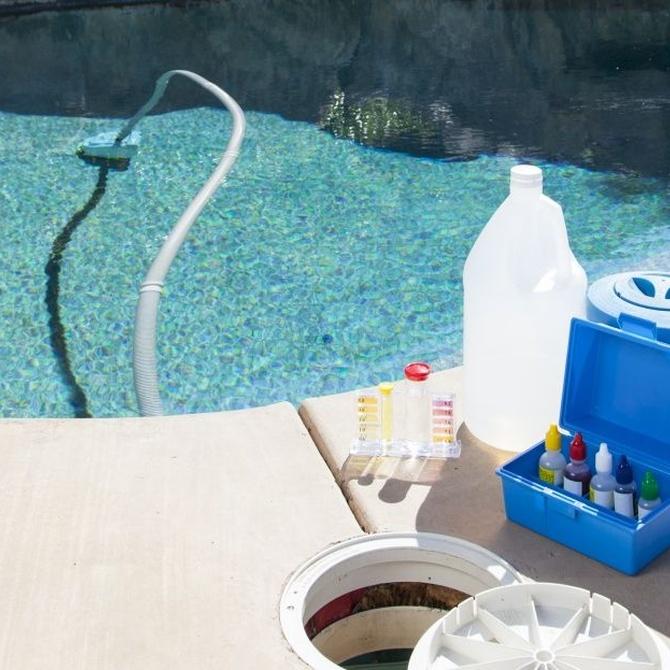 Productos básicos para el mantenimiento de la piscina