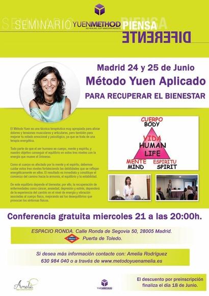Madrid 24 y 25 de junio. Método Yuen Aplicado