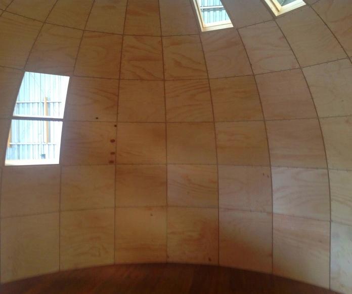Interior Iglú de madera