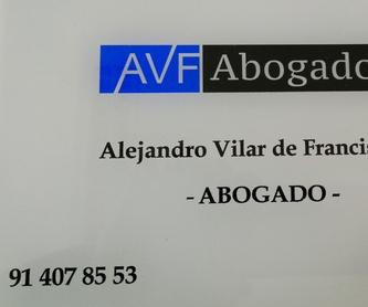 Divorcio Contencioso. Abogado de Divorcio en Ventas. AVF Abogados: Nuestros Servicios de ALEJANDRO  VILAR DE FRANCISCO