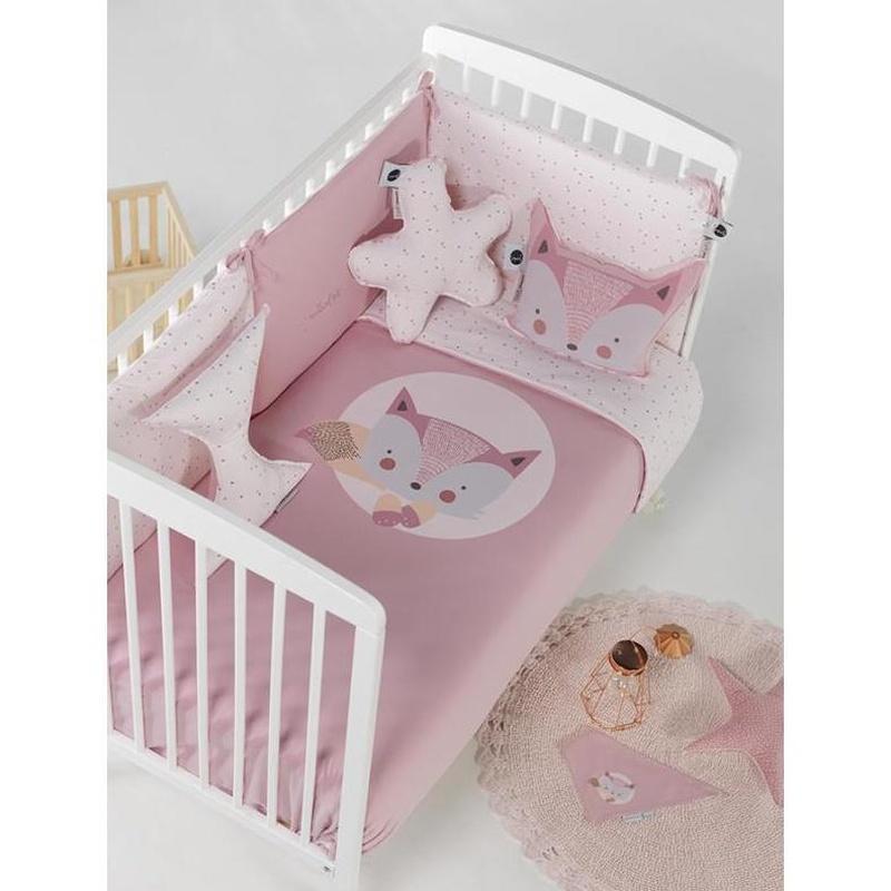 Edredón con Protector de Cuna Fox Rosa Bimbidreams: Productos de Mister Baby