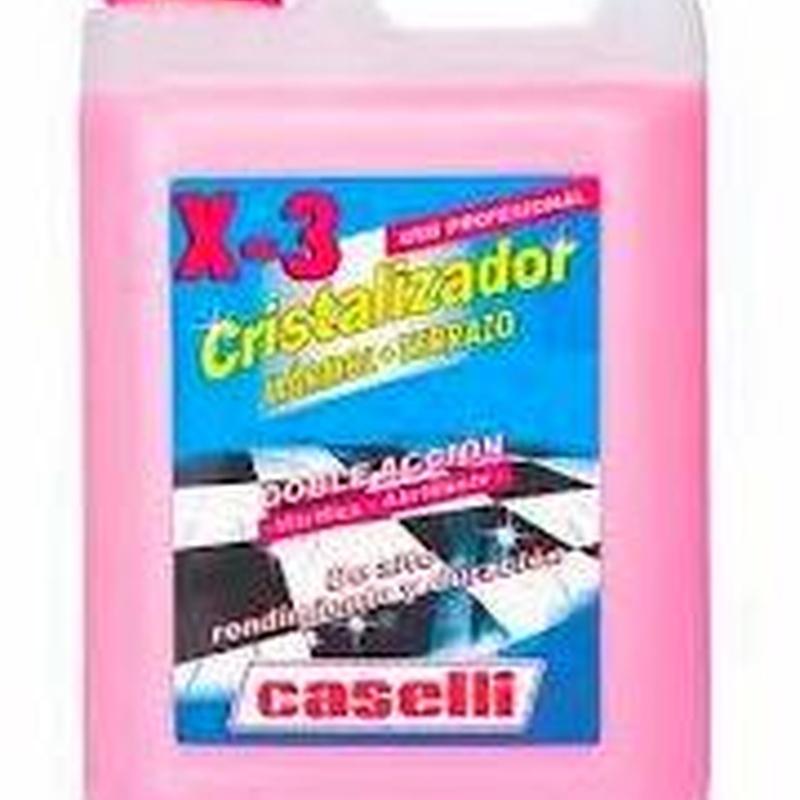 CRISTALIZADOR X-3 CASELLI 5L. : SERVICIOS  Y PRODUCTOS de Neteges Louzado, S.L.
