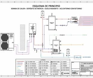 Ejemplo de instalación de aerotermia