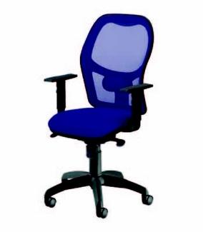 La silla operativa de oficina.