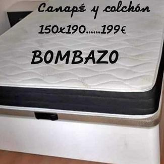 Oferta de canapé y colchon de 1.50 x 1.90