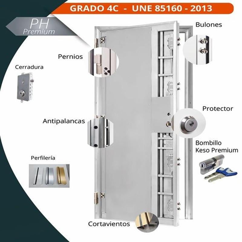 Puerta de seguridad PH  Premium  4 C: Servicios de Alfenadecor