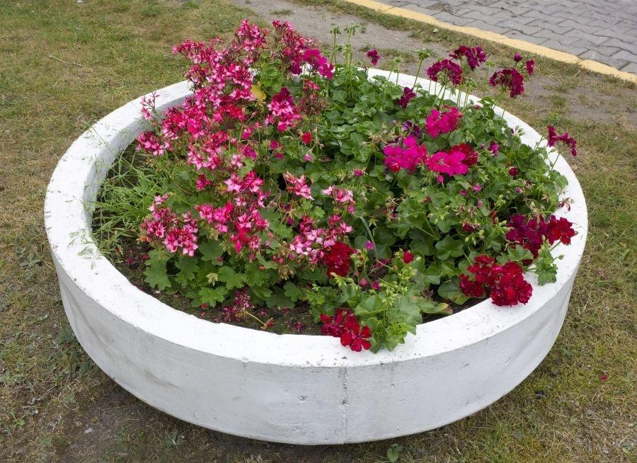 Maceteros de hormigón para tu jardín