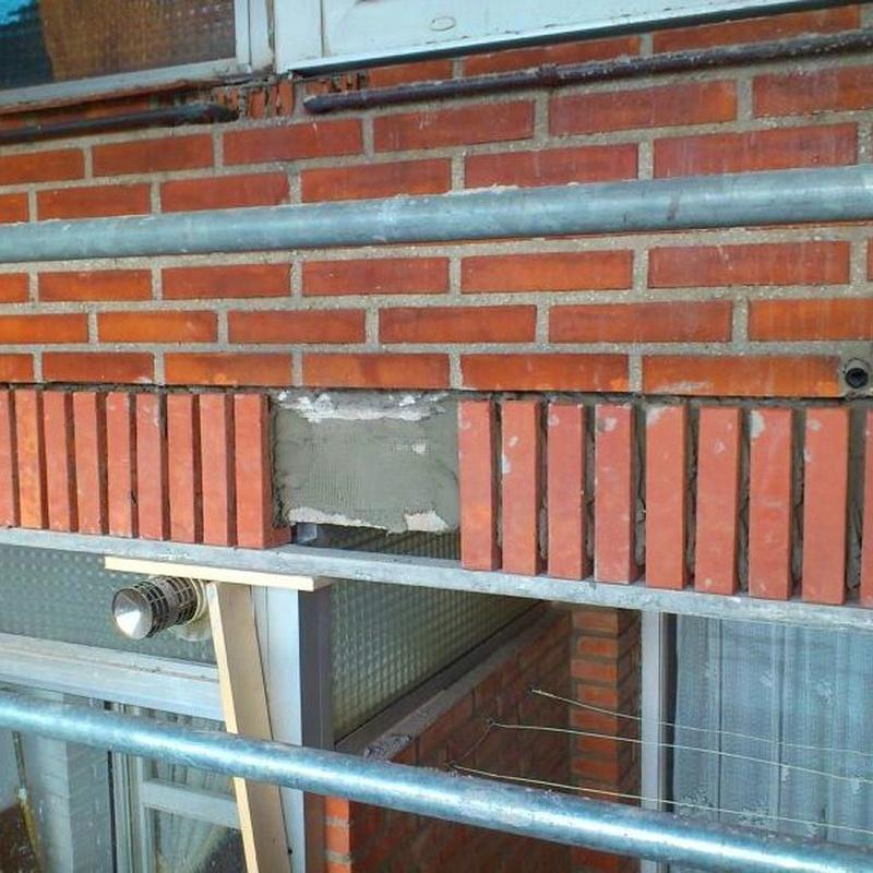 Reparación de fachadas de ladrillo caravista Santander-Torrelavega