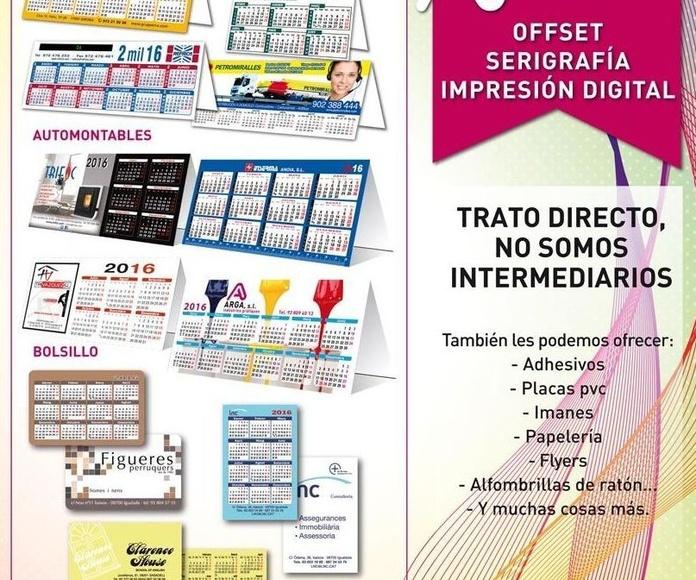 Publicidad: Productos de ARGA, SL -  Indústries Gràfiques