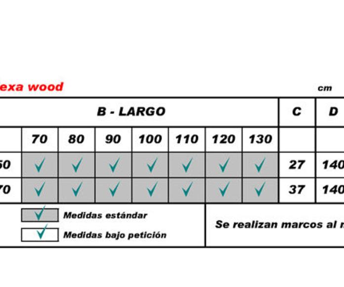 Flexa Wood (medidas hueco)