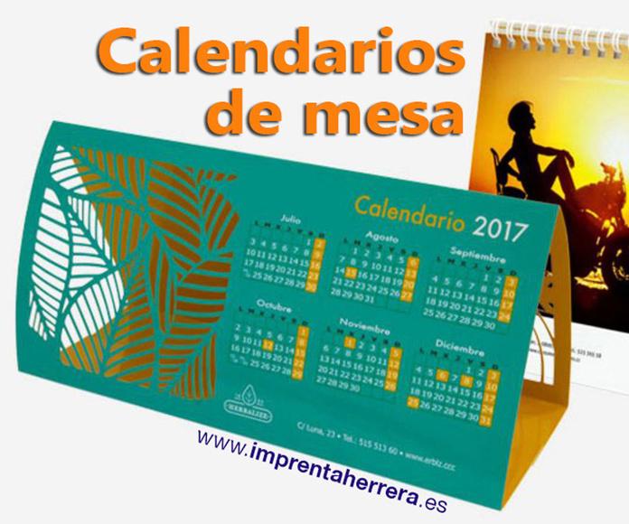 Calendarios de mesa: Catálogo de Servicios Gráficos A.Herrera