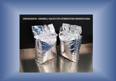 Envasado vació y/o atmósfera modificada con barrera aluminio hasta 25 kg