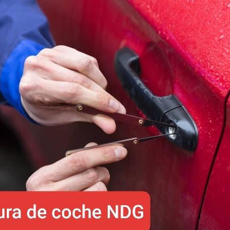 Aperturas de coches: Servicios de NDG CERRAJEROS
