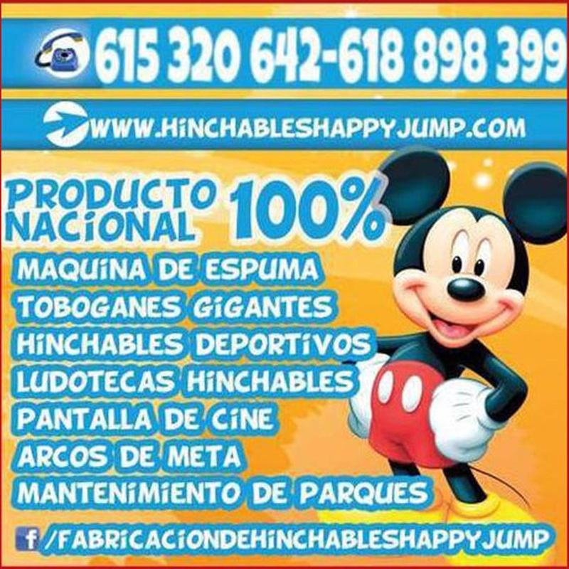 Fabricaciones y ventas de productos hinchables: Catálogo de Hinchables Happy Jump