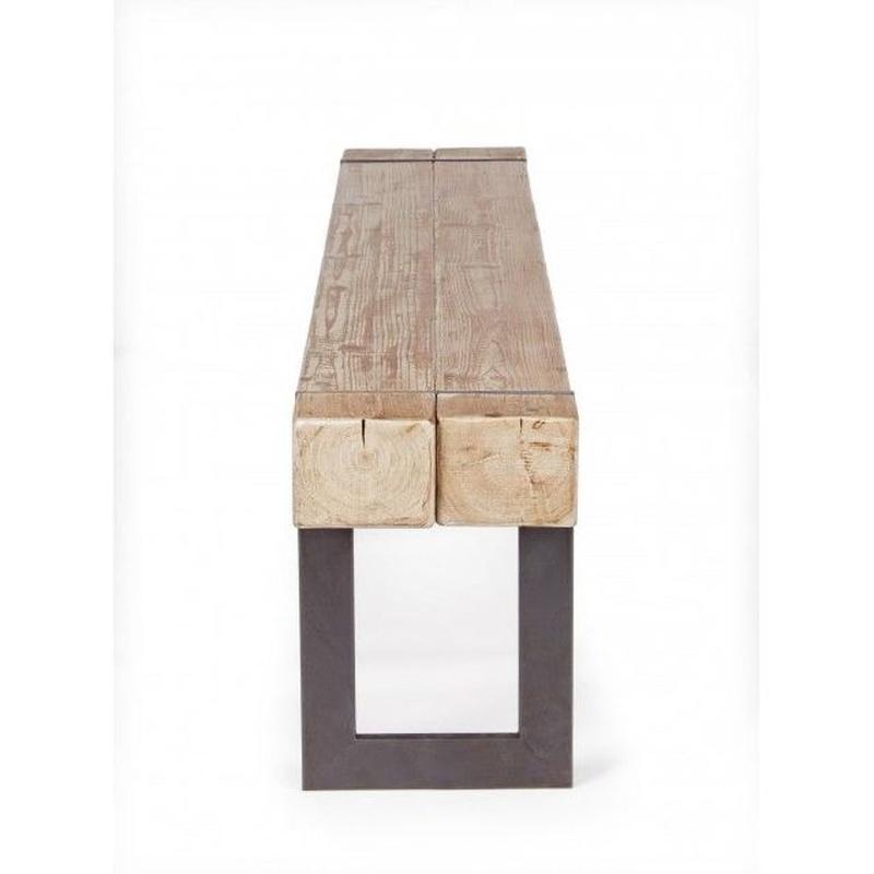 Banco madera y hierro BZZ-0740296:  de Ste Odile Decoración