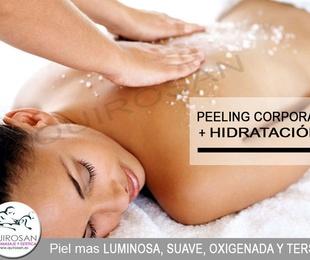 Peeling corporal + hidratación