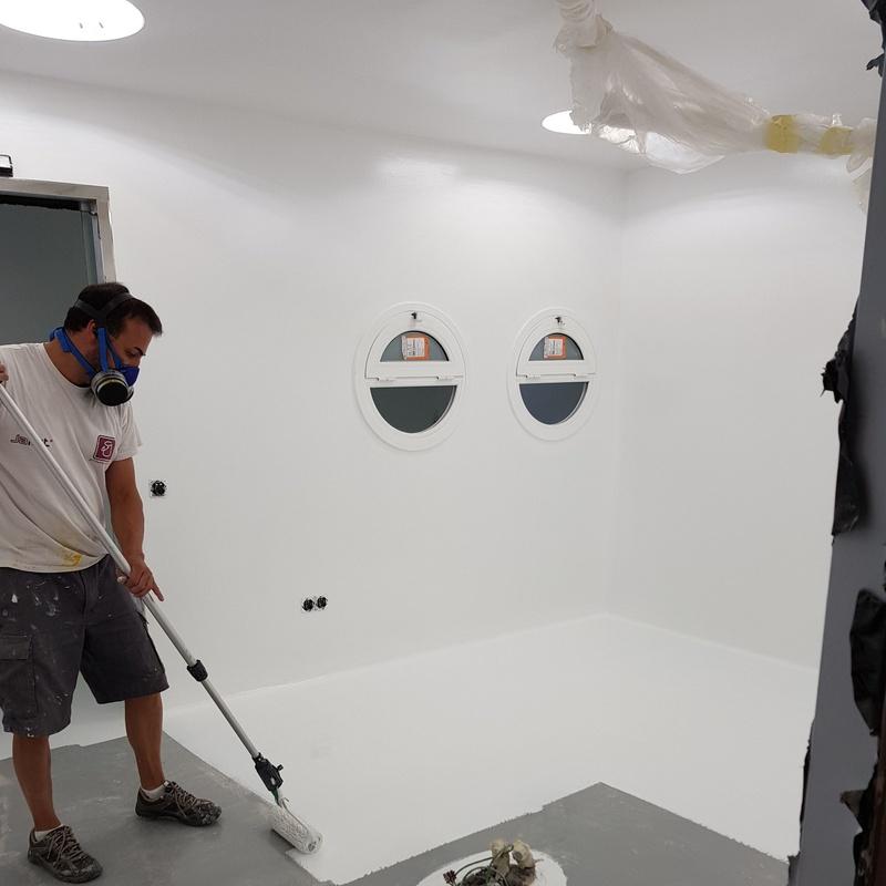 Pintors Martínez # pintura especial quirófanos y salas blancas.