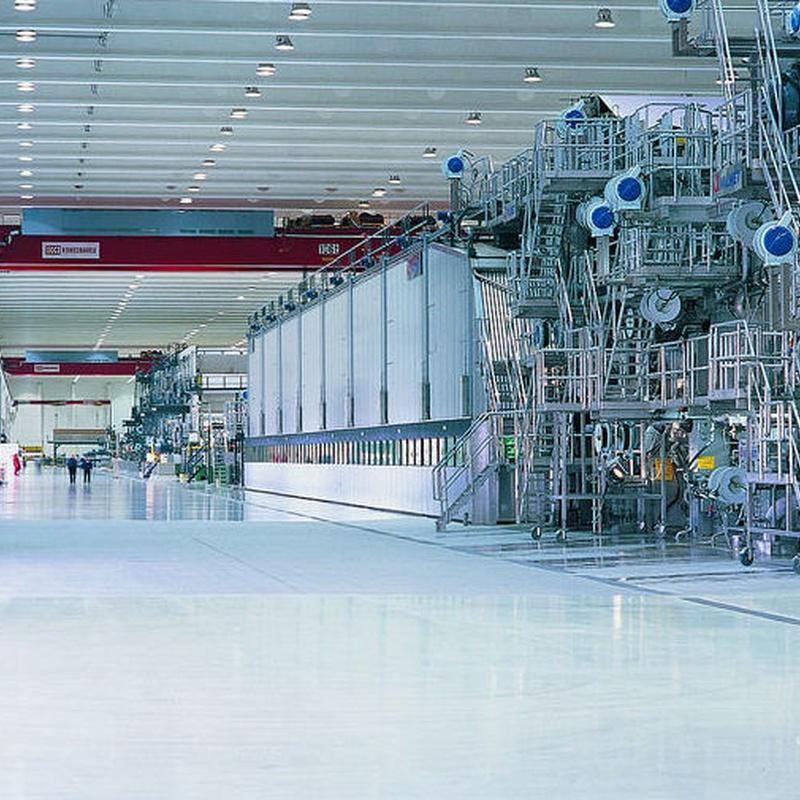 Enrolladores 884 de Nederman planta de producción