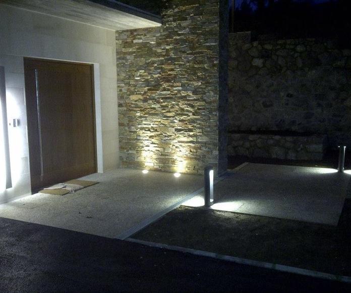 Vista del acceso al interior de la vivienda.