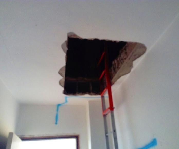 hueco para poner una escalera empotrada de techo