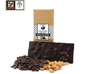 Tableta de chocolate negro de almendras sin azúcar
