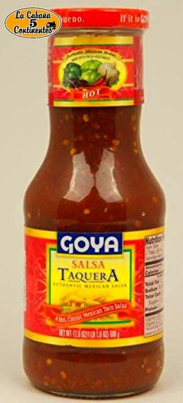 salsa taquera: PRODUCTOS de La Cabaña 5 continentes