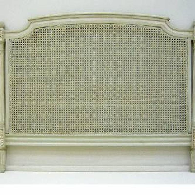 Cabecero cama de 135 en rejilla gris y blanco: Catálogo de Ste Odile Decoración