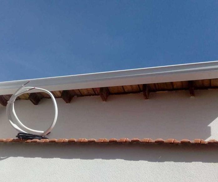 Canalón de aluminio continuo